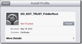 установка сертификата через параметры безопасности